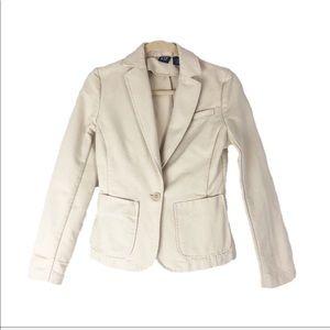 GAP XS Long Sleeve Thick Cream Blazer